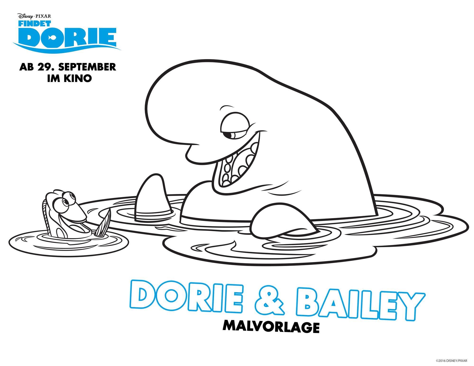 Ausmalbild Findet Dorie Findet Dorie Dorie Amp Bailey