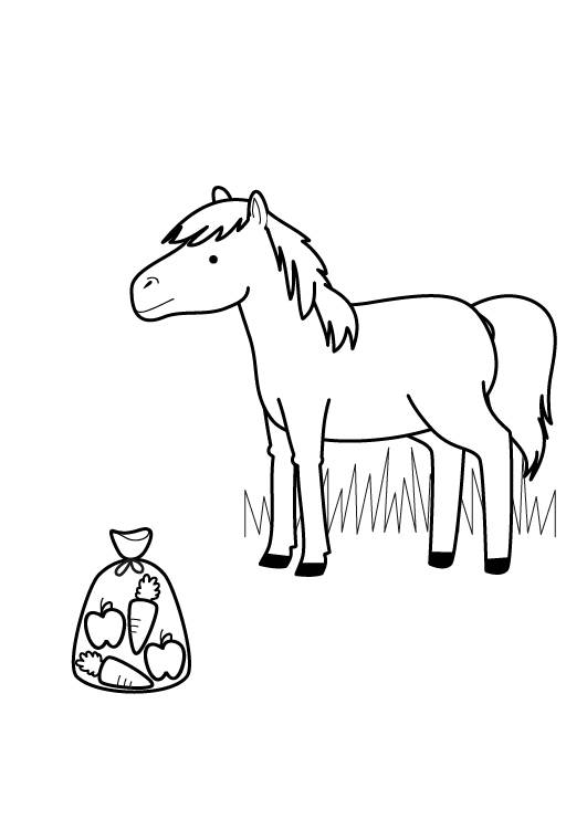 Kostenlose Malvorlage Pferde Pferd Zum Ausmalen Zum Ausmalen
