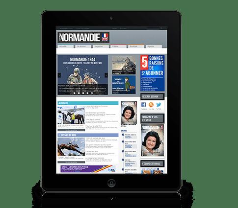création de site web à rennes, site internet sur tablette Normandie Magazine