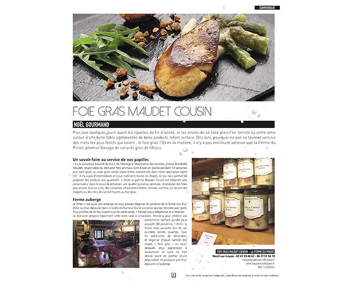 portfolio à Caen et Vire, article Foie Gras Maudet Cousin