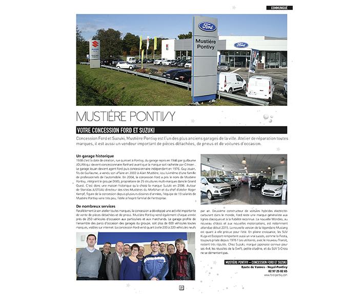 portfolio à Caen et Vire, article Mustière Pontivy
