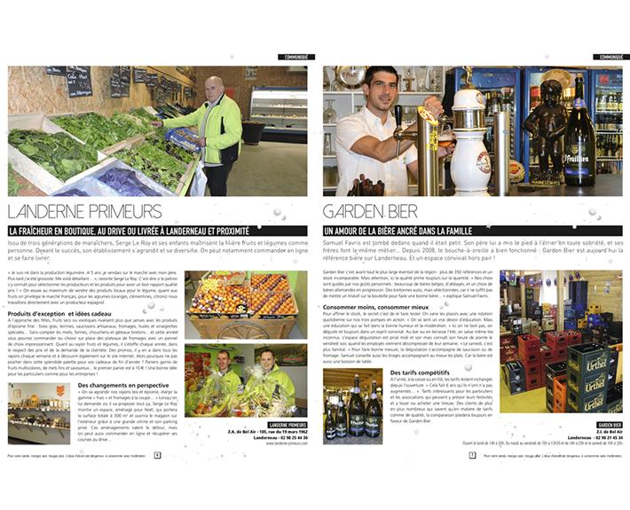 portfolio à Caen et Vire, article TV Magazine