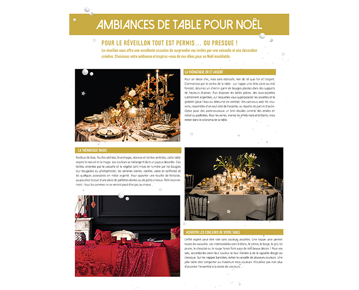 portfolio à Caen et Vire, article Ambiances de table pour Noël