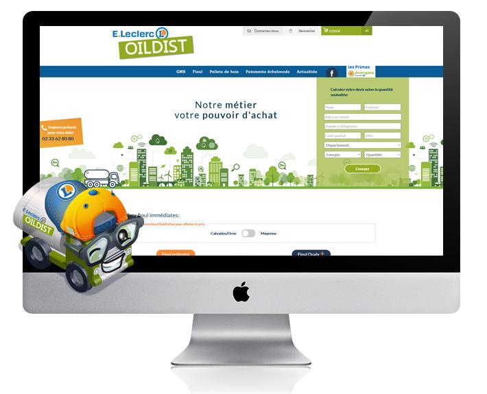 Site web ecommerce de vente de fioul-Oildist