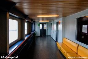 Het interieur van de Molengat (1980) leek ergens wel op het interieur van de Zeeuwse dubbeldeksveerboot Prinses Juliana (1986). De schepen hadden dan ook dezelfde ontwerper.
