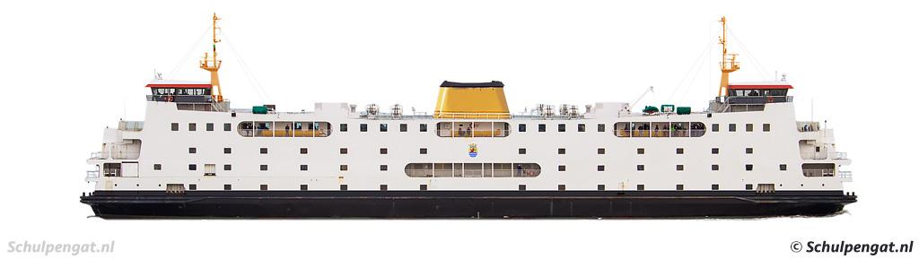 Zijaanzicht zusterschip Schulpengat (PSD)