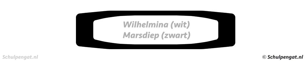Bovenaanzicht TESO-veerboten Marsdiep en Koningin Wilhelmina
