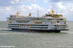 Nadat de dubbeldeksveerboot Texelstroom in juni 2016 opgeleverd wordt, maakt het schip nog een aantal weken proefvaarten op het Marsdiep.