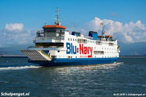 Voormalige Schulpengat in dienst voor Blunavy naar Elba