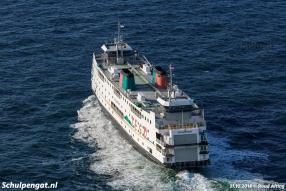 De Schulpengat heeft de Nederlandse kust gevolgd tot Rotterdam, waar het schip via de Eurogeul naar de Zeeuwse loodspost Steenbank vaart.
