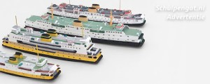 BFT 1250 Scheepsmodellen in schaal 1:1250