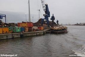 In maart 2019 is er weinig meer over van de voormalige TESO-veerboot Schulpengat.