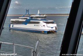 Op 28 mei 2019 kwamen de nieuwe veerboten voor Doeksen aan per zwareladingschip (float on/float off). Op de rede van Texel gingen de LNG-veerboten van Doeksen 'te water'.