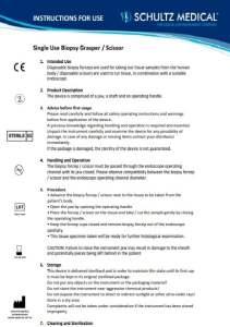 Инструкции по применению биопсии и захватных щипцов