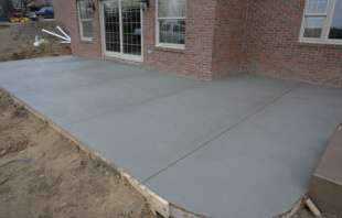 Smooth finished concrete Patio