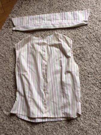 Wäschebeutel aus Bluse nähen