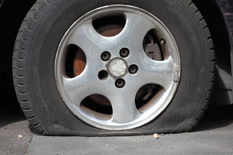 Handling a Blown Tire While Driving