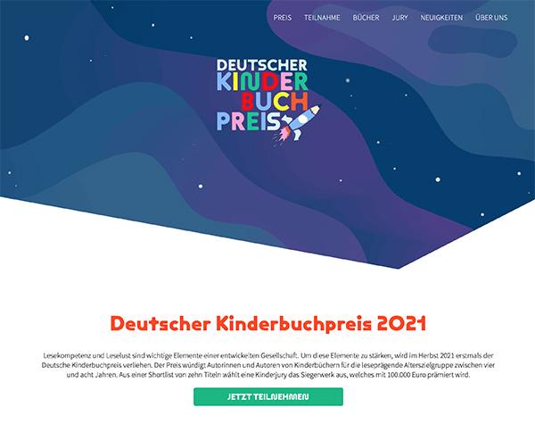 Screenshot www.deutscher-kinderbuchpreis.com