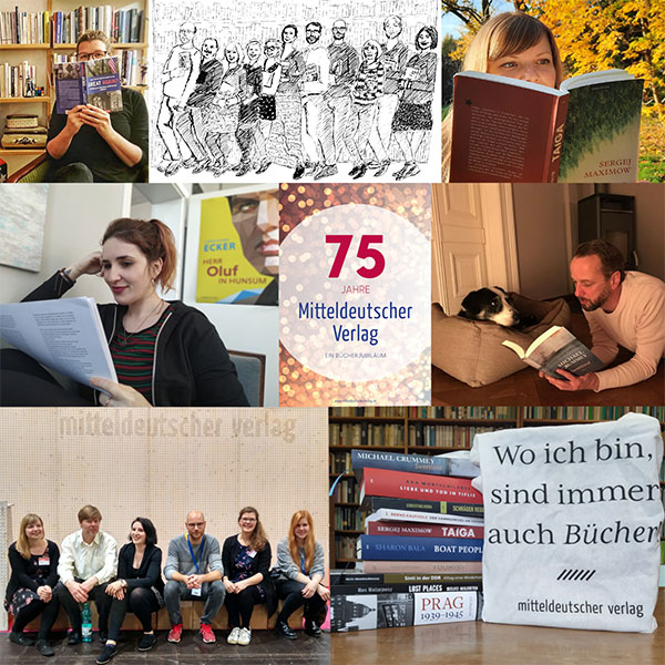 Collage 75 Jahre Mitteldeutscher Verlag | © Mitteldeutscher Verlag