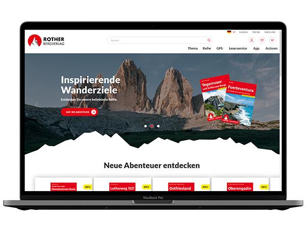 Screenshot Rother Website | © Bergverlag Rother