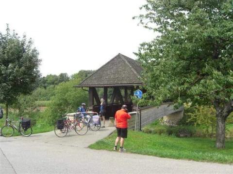 Holzbrücke am Südschwarzwald Radweg