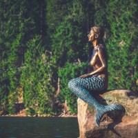 sculpture, mermaid, figure