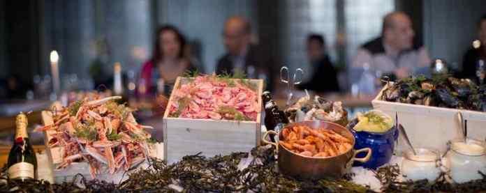 Herrlich das Buffet mit Krustentieren. (Foto: Fiskekrogen)