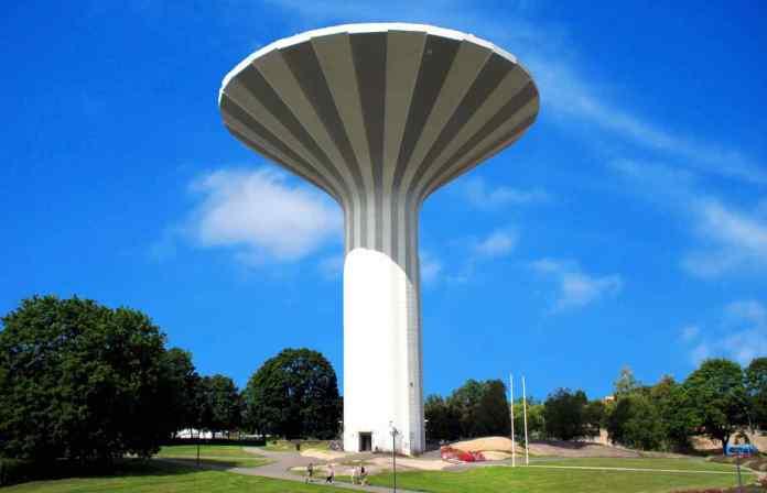 Svampen: der Wasserturm mit der tollen Aussicht. (Foto: Jimmy Fuhr)