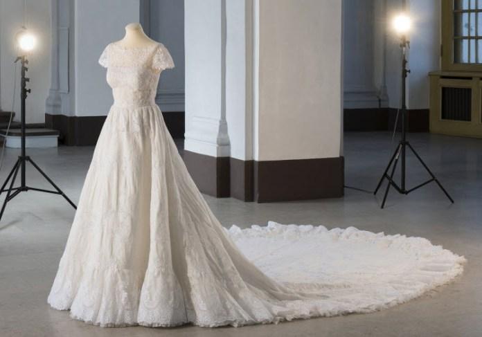 Das Brautkleid von Prinzessin Madeleine (Foto: kungahuset.se)