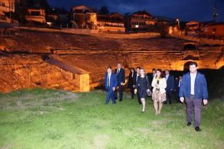 Besuch des Amphitheaters in Durrës Foto: Facebook-Seite von Vangjush Dako