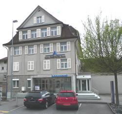 Die Fililale St. Margarethen der Alpha Rheintal Bank