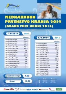 Intern. Schwimmwettkampf in Kranj/Slowenien 50m