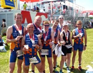 Triathleten der Trainingsgruppe Aleks gewinnen TriClub Wertung beim Ironman 70.3 in St Pölten
