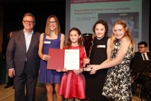 4x50m Lagenstaffel v.l. Joelle Sedlatschek, Sina Renner, Hannah Lackner, Anastasia Barcal