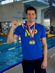 Dietmar Stockinger schwimmt österreichische Masters Rekorde in der Altersklasse 35