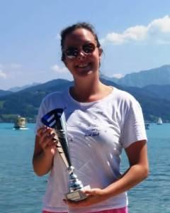 1. Platz bei der 33. Attersee-Überquerung am 4. August 2018 für Sophie Killian