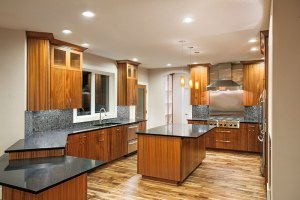 New Kitchen in Luxury Home with Island and Wood Floors kitchen remodeling