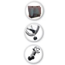 Silla de ruedas reclinable de aluminio BB
