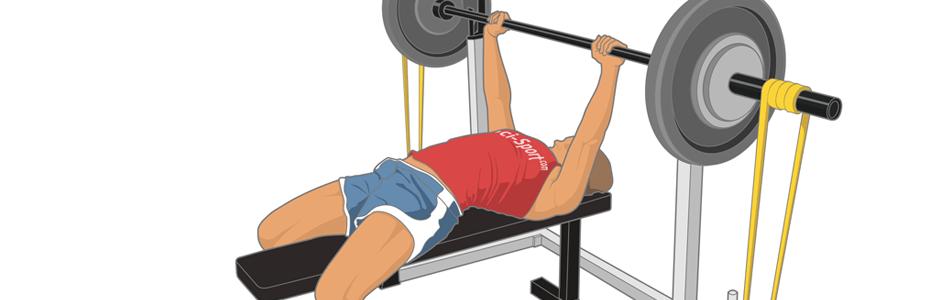 bandes élastiques, élastique, bande, elastic, band, resistance, musculation, fitness, sport, performance, rugby, développé couché, bench press, force, vitesse, accélération, concentrique, phase, puissance