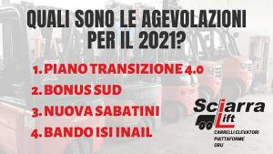 Agevolazioni 2021