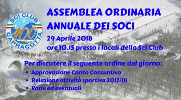 Assemblea Annuale dei Soci – 29 Aprile 2018