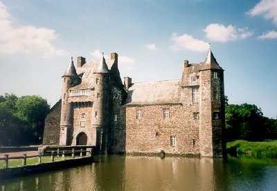 Château de Trécesson manoir de Brocéliande.