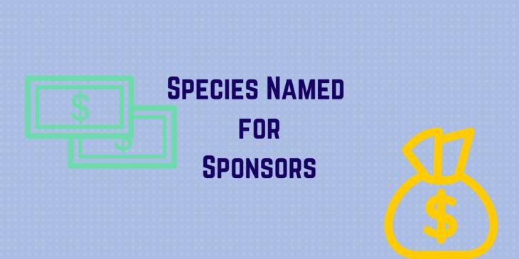 Species named for sponsors