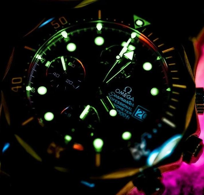 Relógio fosforescente