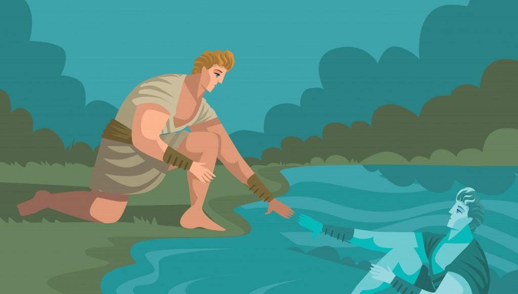 Narcissus gazing himself(delcarmat)s