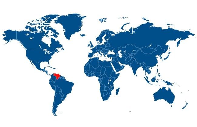venezuela no mapa do mundo - Vector (Andrei Minsk) s
