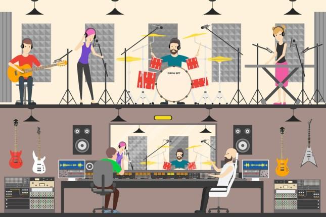 Estúdio de gravação de som (Inspirador) s