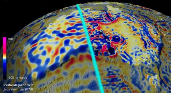 earth's magnetic crust in high detail