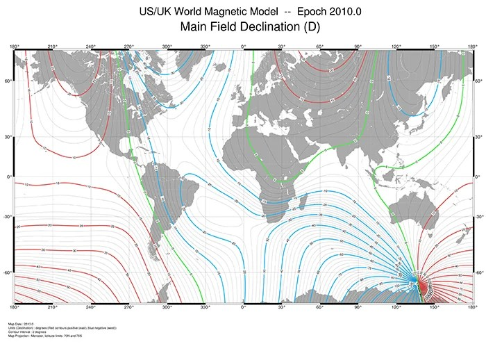 world magnetic model 2010