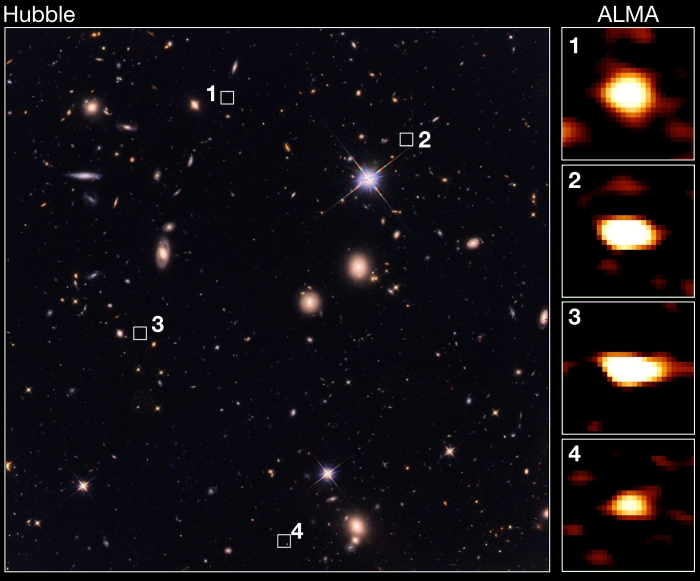 early galaxies comparisom